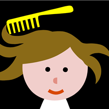 "An illustration of a comb is a new feature in the task: ""Pauli's hair is tasseled. Comb her hair!"""
