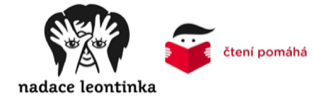 "The Leontinka Foundation and the ""Čtení pomáhá"" (Reading Helps) project logo"